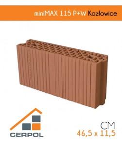 Ceramiczny pustak Cerpol miniMAX 115 P+W Kozłowice