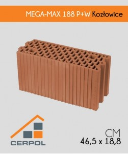 Cerpol MEGA-MAX 188 P+W Kozłowice Pustak ceramiczny