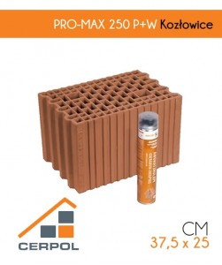 Pustak ceramiczny Cerpol PRO-MAX 250 P+W Kozłowice szlifowany