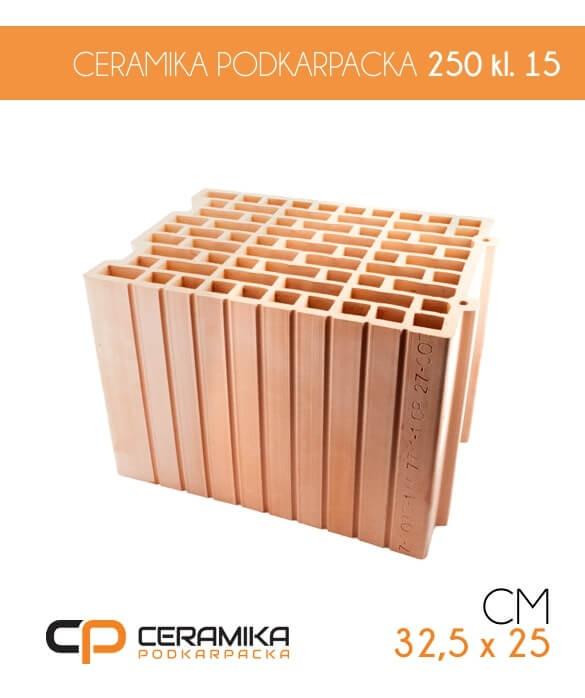Ceramika Podkarpacka pustak ceramiczny 250 mm klasa 15 cena