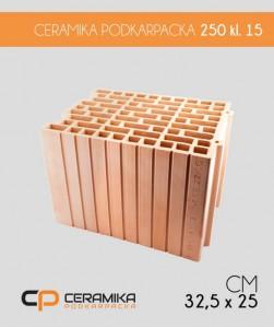 Pustak ceramiczny Ceramika Podkarpacka 25 cm klasa 15