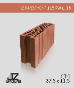 JZ Investment ceramiczny pustak PW klasa 15 115 mm