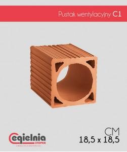 Cegielnia Stopka pustak wentylacyjny C1 185 x 185 mm