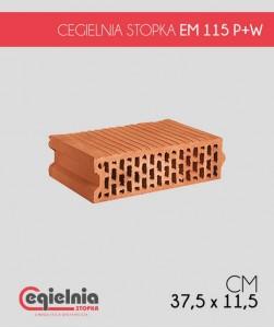 Pustak ceramiczny EM 115 P+W Cegielnia Stopka