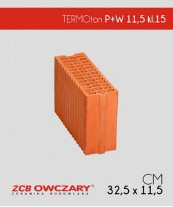 TERMOton P+W 115 mm klasa 15 ZCB Owczary pustak ceramiczny