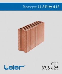 Pustak ceramiczny Leier Thermopor 11,5 P+W cena