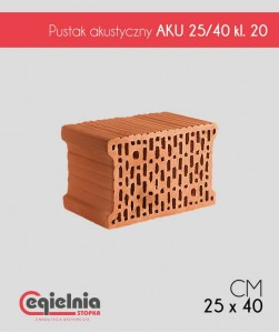 Pustak AKU 25/40 Cegielnia Stopka akustyczny klasa 20