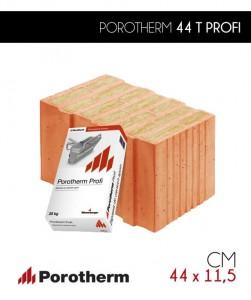 Pustak ceramiczny Porotherm 44 T Profi z wełną mineralną