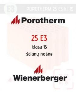 Tania ściana nośna ceramiczna Porotherm 25 E3