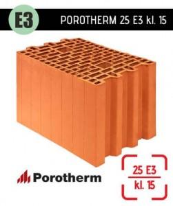 Lekki i ekonomiczny pustak ceramiczny Porotherm 25 E3