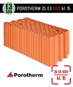 Pustak ceramiczny Porotherm 25 E3 500