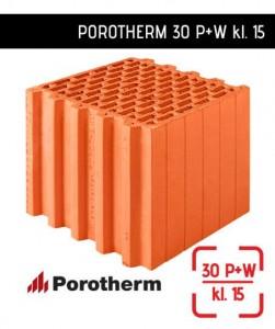 Porotherm 30 P+W klasa 15 ściana ceramiczna 30 cm