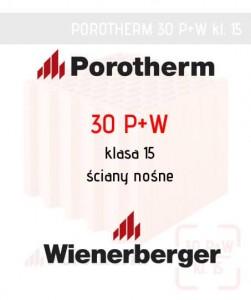Mur ceramiczny grubość 30 cm pustak Porotherm 30 P+W