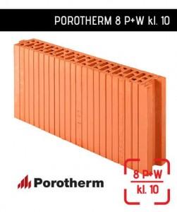 Ściana działowa ceramiczna 8 cm Porotherm 8 P+W
