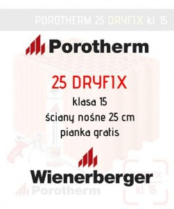 Porotherm 25 Dryfix ściana 25 cm