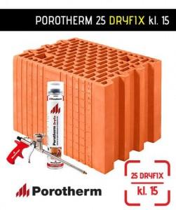 Pustak ceramiczny szlifowany Porotherm 25 Dryfix