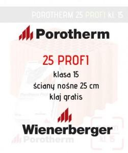 Pustak ceramiczny Porotherm 25 Profi Wienerberger