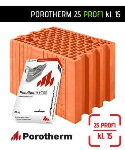 Pustak Porotherm 25 Profi ściana 25 cm