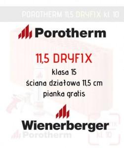 pustak ceramiczny Wienerberger Porotherm 11,5 Dryfix