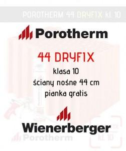 Pustak ceramiczny Wenerberger Porotherm 44 Dryfix