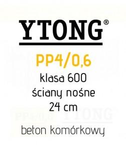 Ytong 24 PP4/06 S+GT bloczek beton komórkowy ściana 24 cm