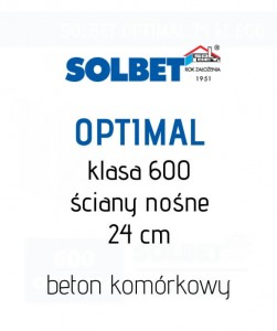 Gazobeton Solbet Optimal 24 kl 600 suporeks