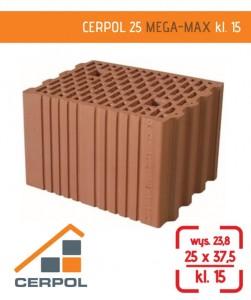 Cerpol Mega-Max ceramiczny pustak o grubości 25 cm - ceramiczne ściany nośne.