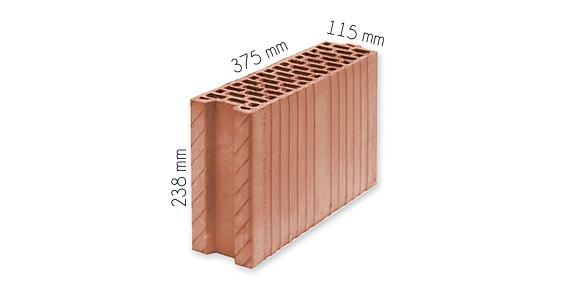 Wymiary pustaka Thermopor 11,5 P+W Leier