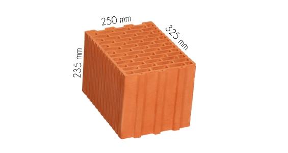 Wymiary pustaka TERMOTON 25 cm klasa 15 P+W